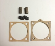 NOS cylinder base paper gaskets and long versions of the Cylinder stud nuts #8. These are used for easier reach.